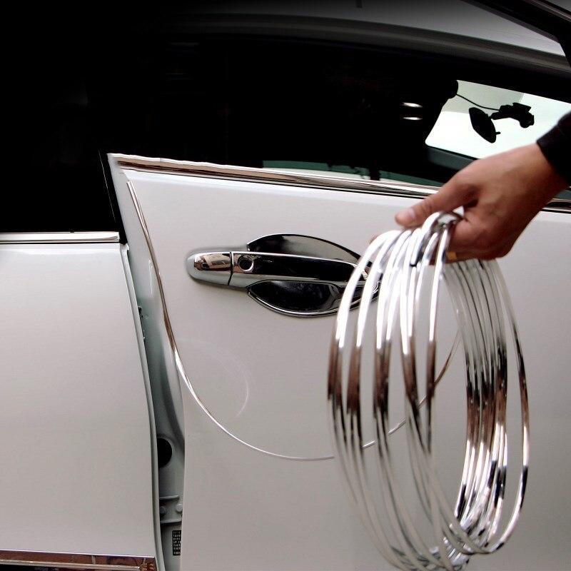 Borde de la puerta del coche goma Protector de rasguños tiras molduras tira Anti-colisión accesorios de coche para KIA Audi asiento para Lada etc.