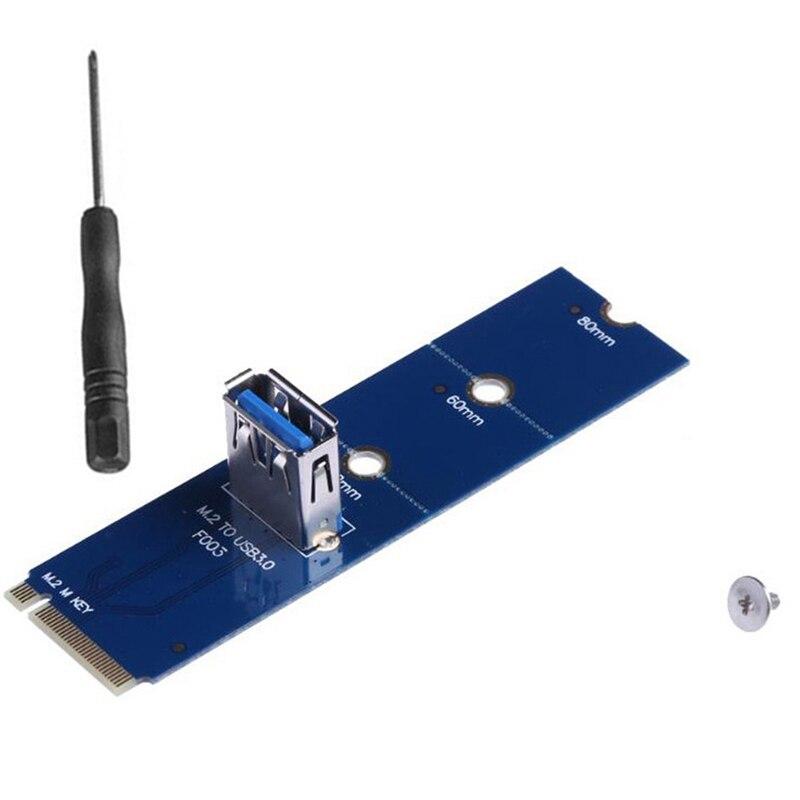 50 قطعة NGFF M.2 إلى USB 3.0 بطاقة محول M2 متر مفتاح إلى USB3.0 ل PCIe PCI-E الناهض بطاقة للتعدين التعدين