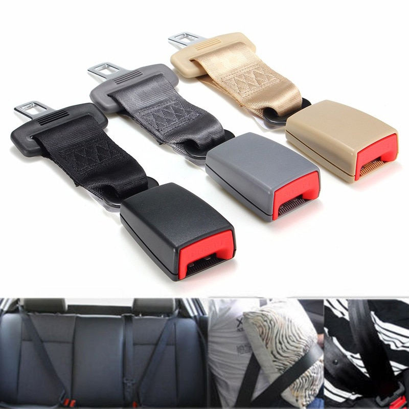 Car Seat Belt Extender Safety Seatbelt 23cm Long-lasting Black Seatbelt Extender Car Auto Type With Safety Buckle