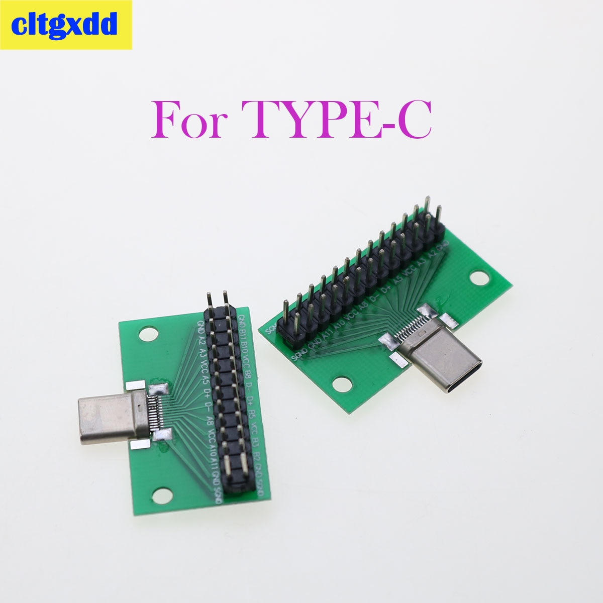 Cltgxdd 20 piezas Tipo-C macho a USB 3,1 prueba adaptador de placa...