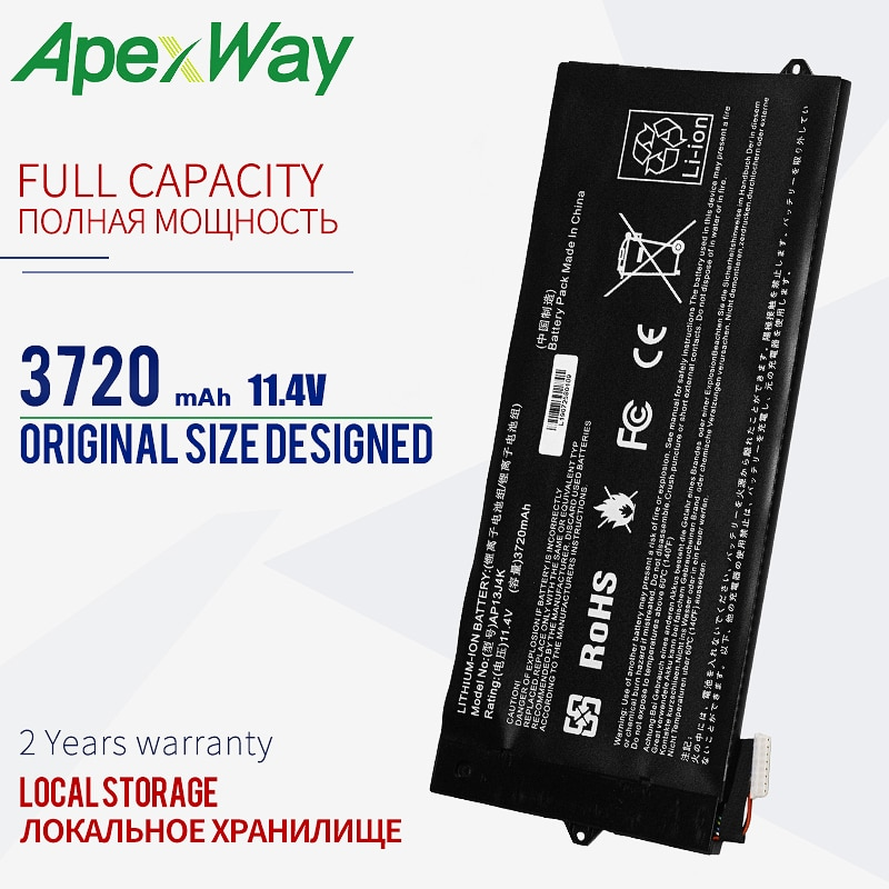 11.4V بطارية كمبيوتر محمول AP13J3K AP13J4K لشركة أيسر Chromebook C720 C720P 11 C740 11 C740-C3DY 11 C740-C4PE 14 CB3-431 KT00304001