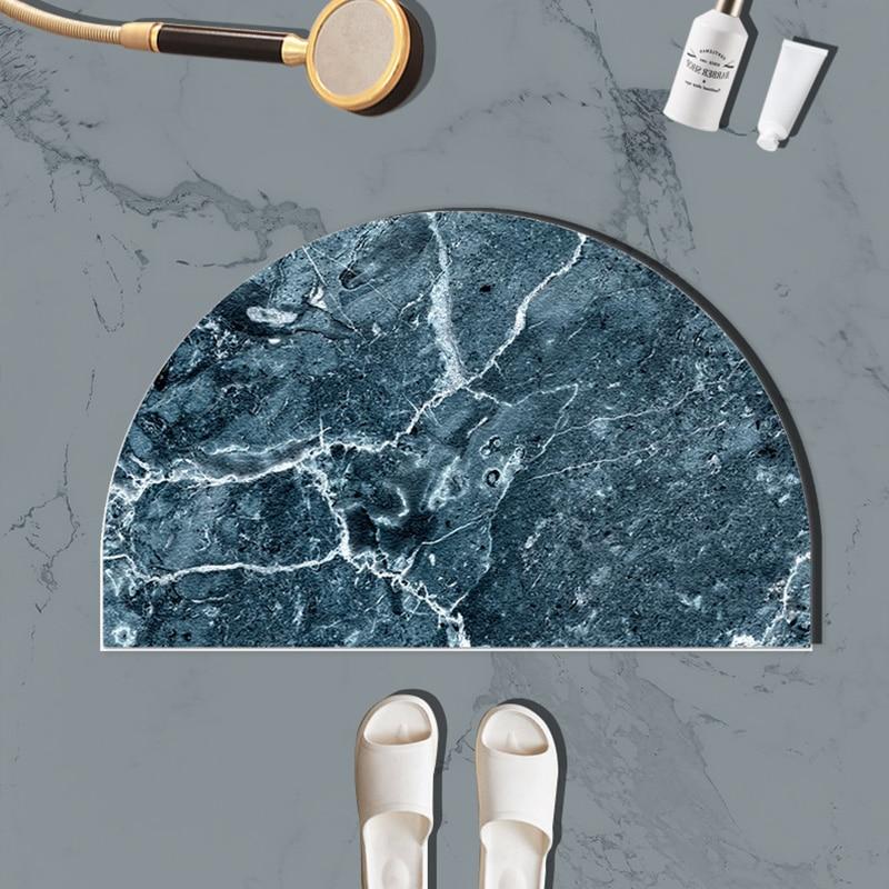 Nordic Absorbent Bath Mats Modern Luxury Door Non Slip Bathroom Bath Mats Shower Doormat Salle De Bain Bathroom Product DH50DD