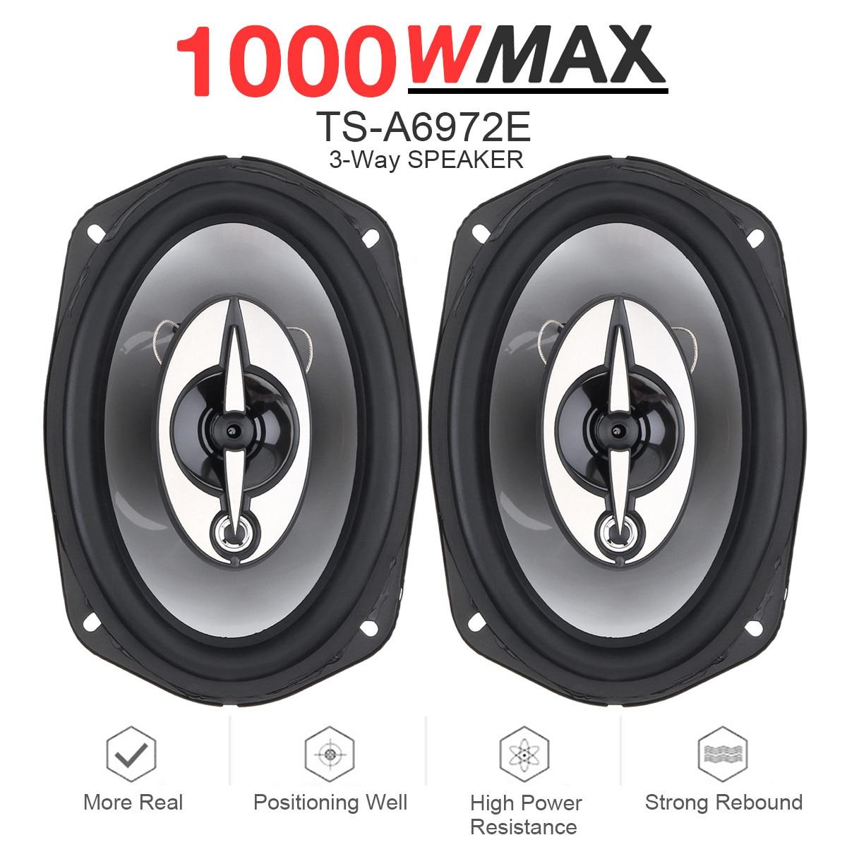 2 pçs 6x9 Polegada 1000 w 3 vias carro veículo coaxial alto-falante auto áudio música estéreo alto-falante de freqüência completa do carro alto-falante de alta fidelidade