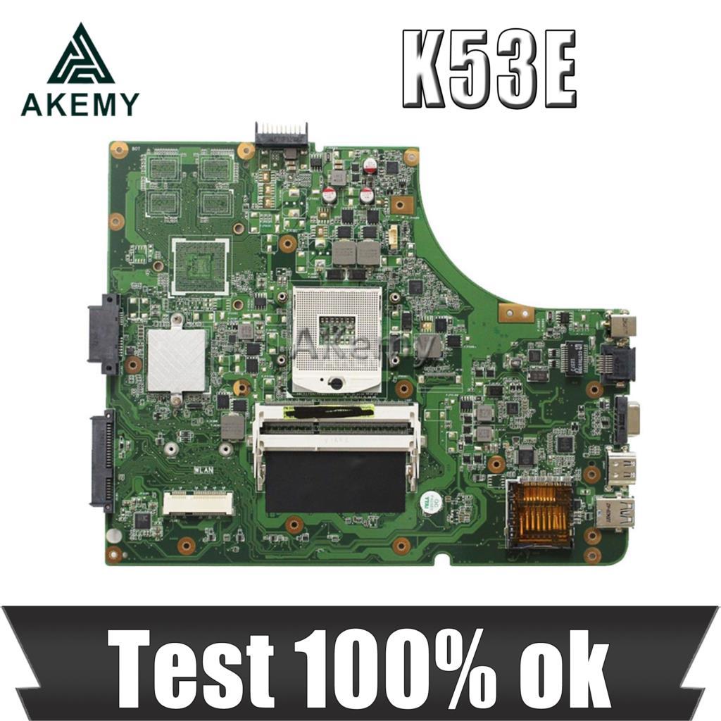 Akemy K53E اللوحة لابتوب For Asus K53E K53SD K53 A53E A53S X53S X53E P53 اختبار اللوحة الأصلية GM