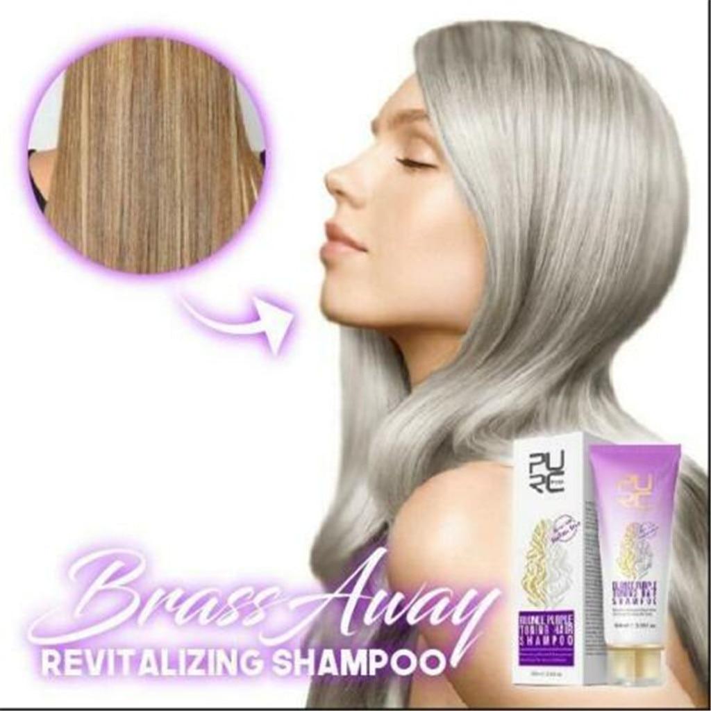 Brassway revitalizante shampoo manter suas sombras louras perfeitas 100g rápido suave cor do cabelo caneta cabelo branco hairline capa