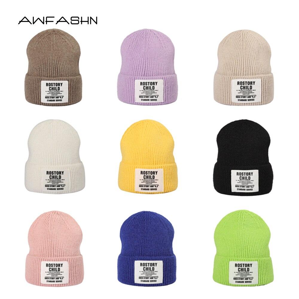 Новинка 2021, вязаная шапка, зимняя теплая шапка, женская шапка, модная повседневная Осенняя мужская шапка, облегающая шапка с черепом, женска...