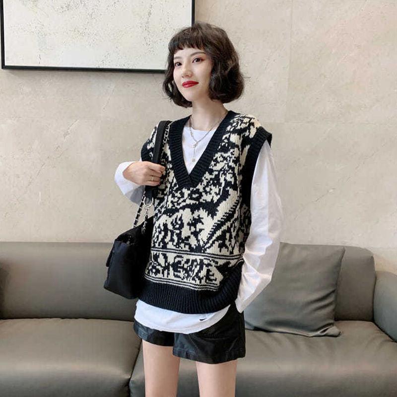 New European waistcoat in autumn and winter 2020 women's fashion versatile knitwear enlarge