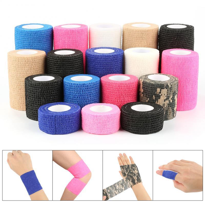 2,5 cmX5m First Aid Kit Selbst-Adhesive Elastische Bandage Hause Band Sicherheit Schutz Notfall Sport Körper Gaze Pet Erste hilfe