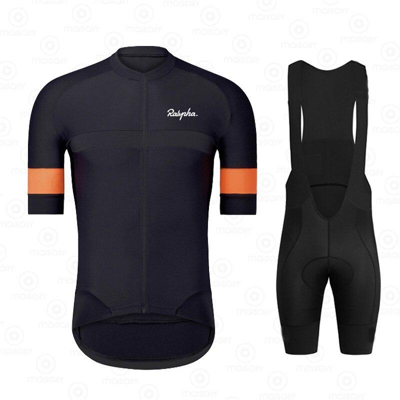 Ralvpha-Ropa de ciclismo para hombre, conjunto de Jersey y pantalón corto de...