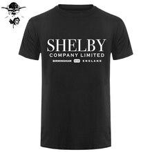 Shelby Company Limited inspiré par Peaky Blinders imprimé T-Shirts haut t-shirt 100% coton Humor hommes col rond T-Shirts Style noir