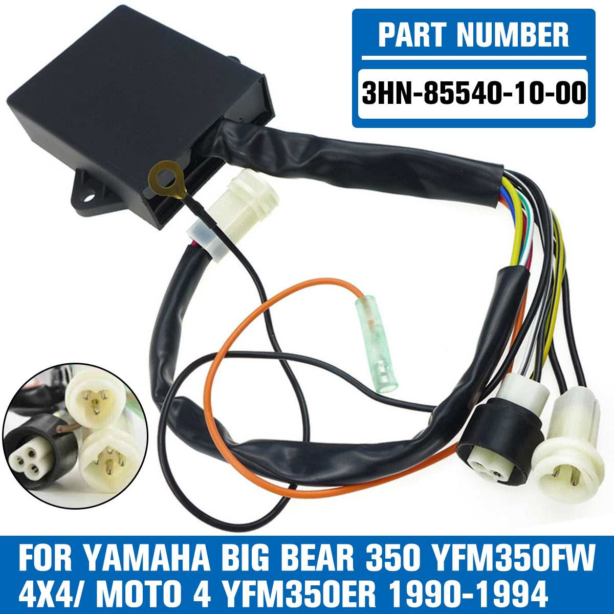 صندوق إشعال السيارة عالي الأداء CDI ، مناسب لـ Yamaha YFM 350 ، Big Bear Moto 4 YFM350 3hn-855 40-10-00 ، قطع غيار الدراجات النارية
