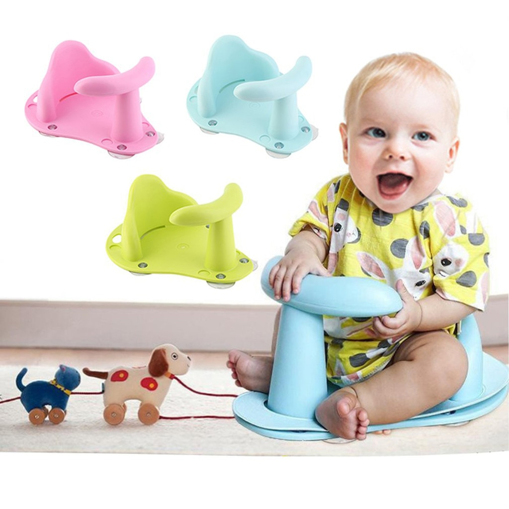 Baby Shower Newborn Baby Bath Tub Ring Seat Infant Child Toddler Kids Anti Slip Safety Toy Chair Bathtub Mat Bath Seat Support