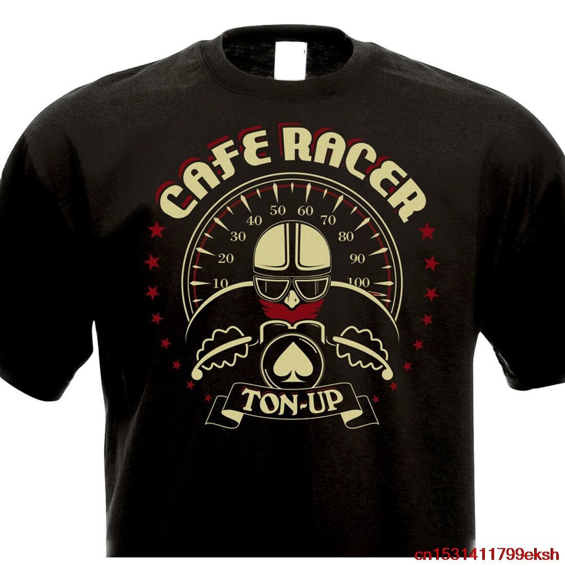 Camiseta de CAFE RACER TON-UP Vintage motocicleta BSA Triton