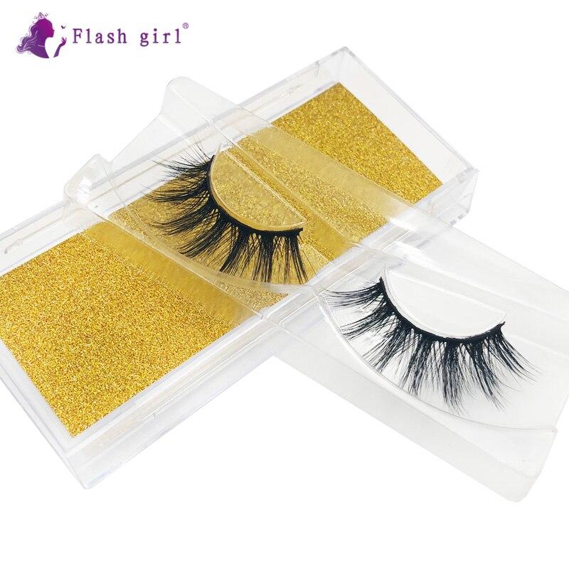 Flash Girl Mink Eyelashes Z-11 Natural Thick Long Eye Lashes Wispy Eyelash Extension Beauty Makeup T