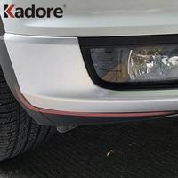 For Volkswagen T-Roc TROC 2017 2018 2019 Matte Front Bumper Corner Protector Cover Trim Car Exterior Accessories
