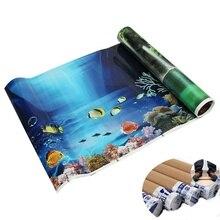 3D Blue Fresh Sea Background Aquarium Ocean Landscape Poster Fish Tank Background