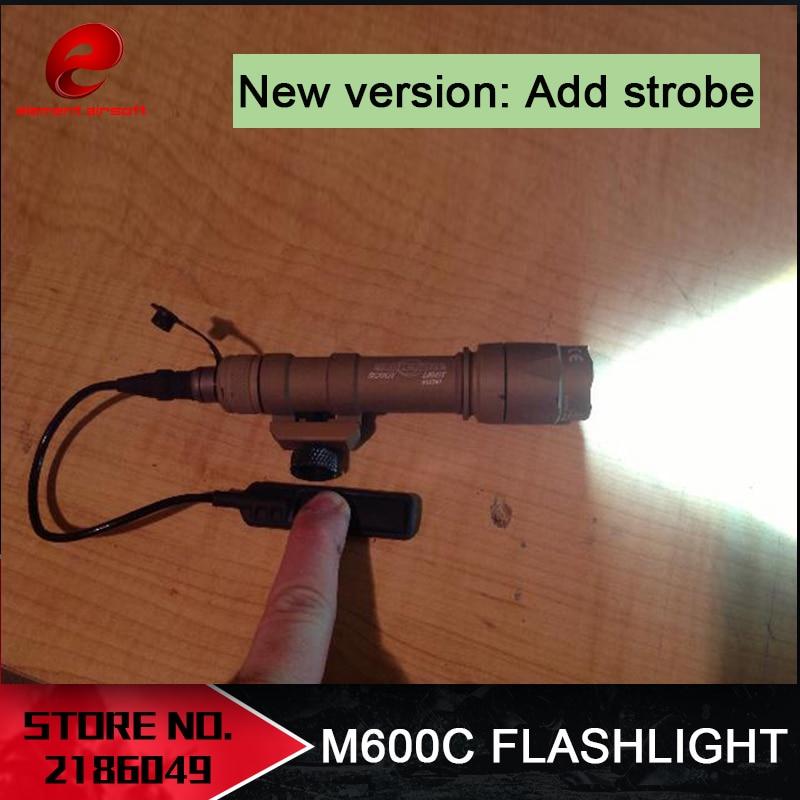 Element Airsoft Surefir M600C Weapon Tactical Scout Light LED 366 LumenTactical Rifle Flashlight New