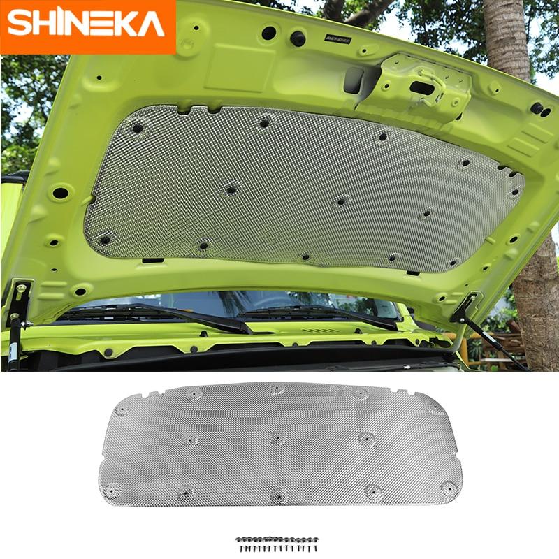 SHINEKA Sound Heat Insulation Cotton Car Engine Hood Heat Insulation Sound Deadener Pad For Suzuki Jimny JB74 2019+ Accessories