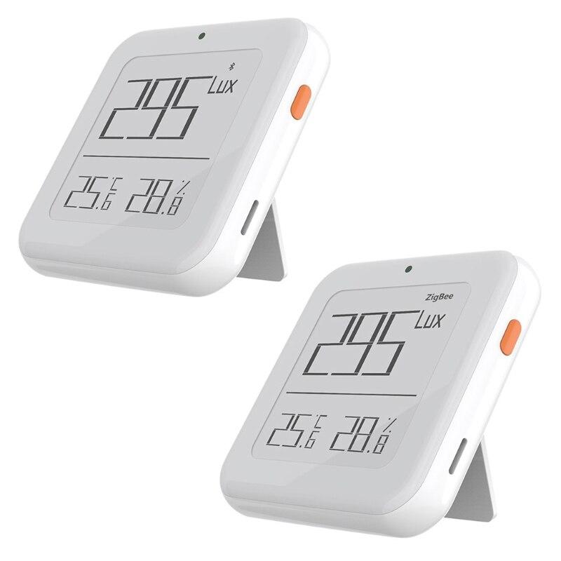 درجة الحرارة خفة سطوع الرطوبة الذكية الاستشعار في الأماكن المغلقة 3 في 1 ميزان الحرارة مقياس الإنارة الرطوبة مقياس الرطوبة