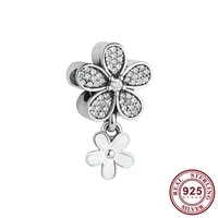 original 925 sterling silver bead creative fashion flower beads fit pandora women bracelet necklace diy jewelry