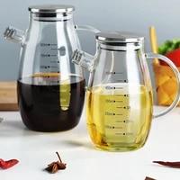 cooking seasoning oil bottle sauce bottle glass storage bottles for oil and vinegar creative oil dispenser for kitchen accessory