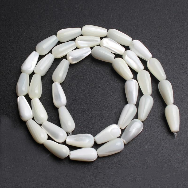 5*8/6*12/6*20mm Natural Drop Shape Shell Beads Irregular Loose Spacer Beads For Accessories Jeweller