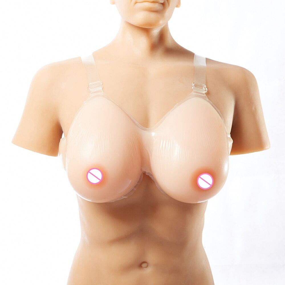 800 جرام/زوج سيليكون الثدي أشكال الثدي وهمية ل متخنث C كوب السحب الملكة مع قضيب جلدي كروسدرسر الثدي أعلى بيع المنتج