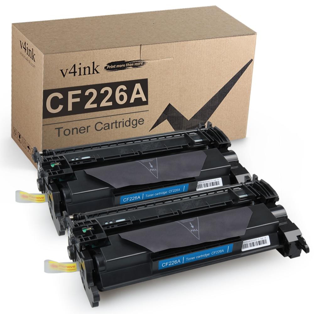 V4ink 2 حزمة متوافق ل HP CF226A 26A الحبر خرطوشة ل HP يزر برو M402dn M402n M402dw MFP M426fdw M426fdn عالية الغلة