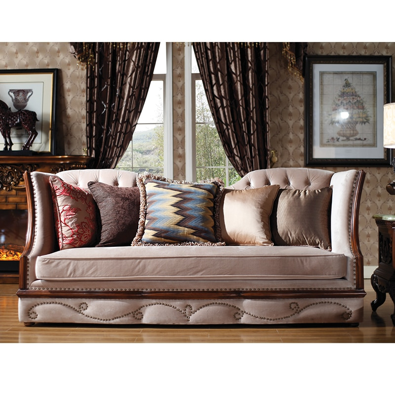 Directamente de fábrica muebles modernos de tela Europea sofá de Villa Mobília Europea sofá da villa da tela GH88