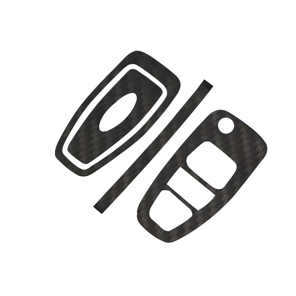 Jameo Auto Carbon Fiber Car Key Protection Cover Trim Sticker Case for Ford Focus 3 4 MK3 MK4 Ranger Kuga Escape Folded Key