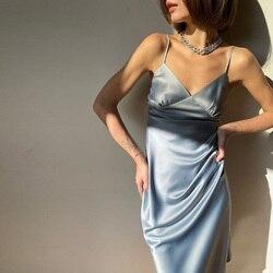 Vestido de verão 2020, vestidos femininos sexy, vadim, vestidos de festa, cor sólida, reta