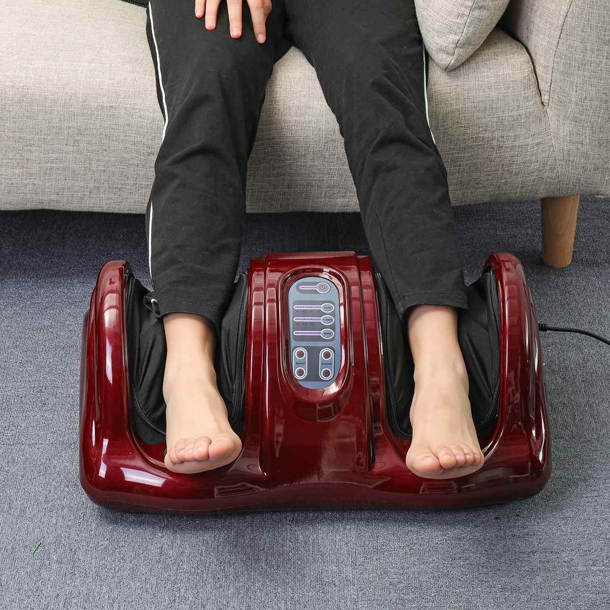 220V Foot Massager Electric Heating Foot Body Leg Massager Shiatsu Kneading Roller Vibrator Machine Reflexology Calf Leg Relax enlarge