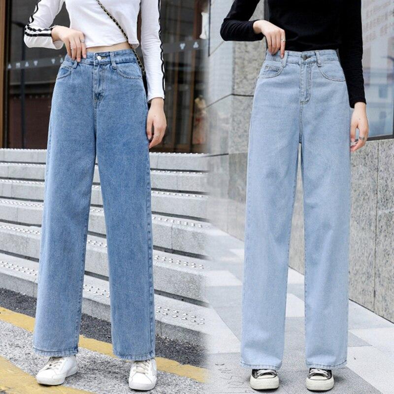 2020 Band Women`s Plus Size Jeans Harem For Women Loose Vintage Light Blue Women's Jeans Pants Boyfriend Denim