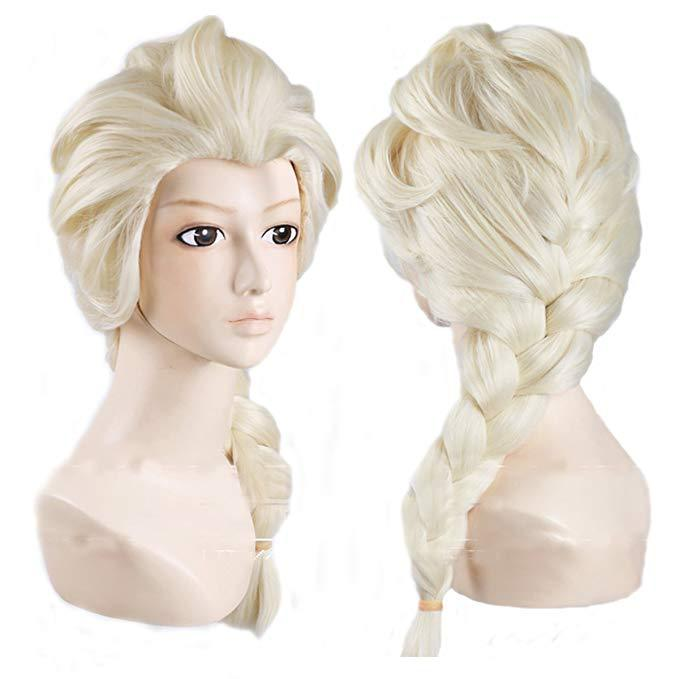 Wig Movies Frozen Snow Queen Elsa Blonde Hair Cosplay Wigs For Halloween Carnival Purim Masquerade Party