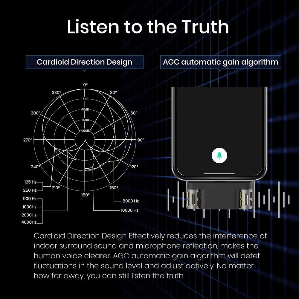 Langogo Mini Voice recorder microphone Receive sound long distances 104 languages transcribed enlarge