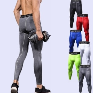 Mens Bodybuilding Pants Fitness Mens Compression Pants Yoga Pants Running Leggings Men Sports Tight Leggings Fitness Trousers