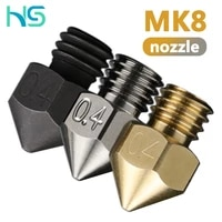 haldis 3d high quality mk8 nozzle for 3d printers parts 1 75mm filament cr10 heat block ender3 v2 hotend nozzle m6 thread
