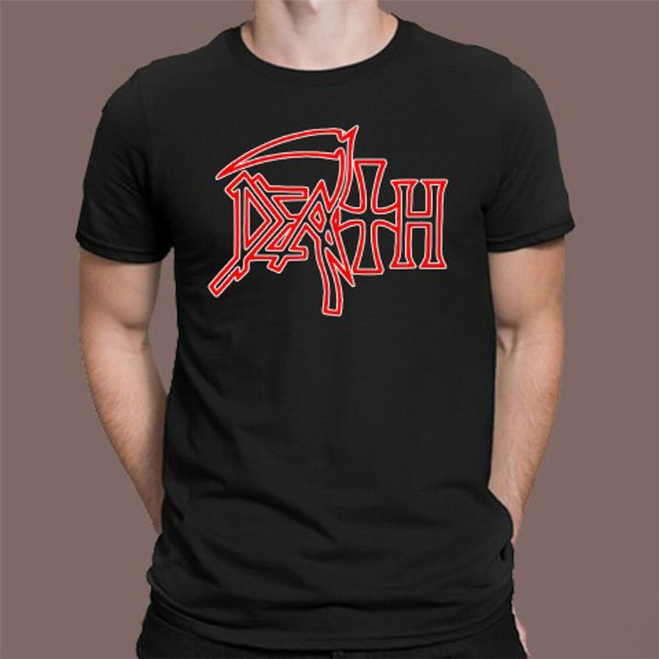 Camiseta negra con logotipo de banda de Metal Death para hombre talla S M L Xl 2Xl 3Xl tamaño grande