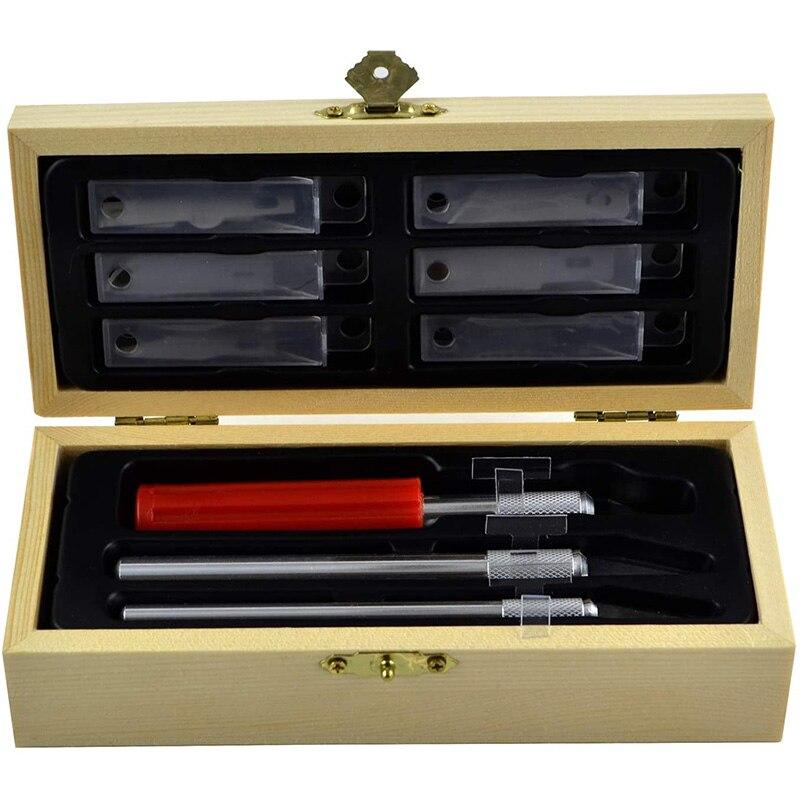 Cuchillo SHGO de gran precisión con cuchillas para manualidades, juego de cuchillos de Hobby, cuchilla para manualidades de madera con cuchillas de corte exacto, cuchillos para arte