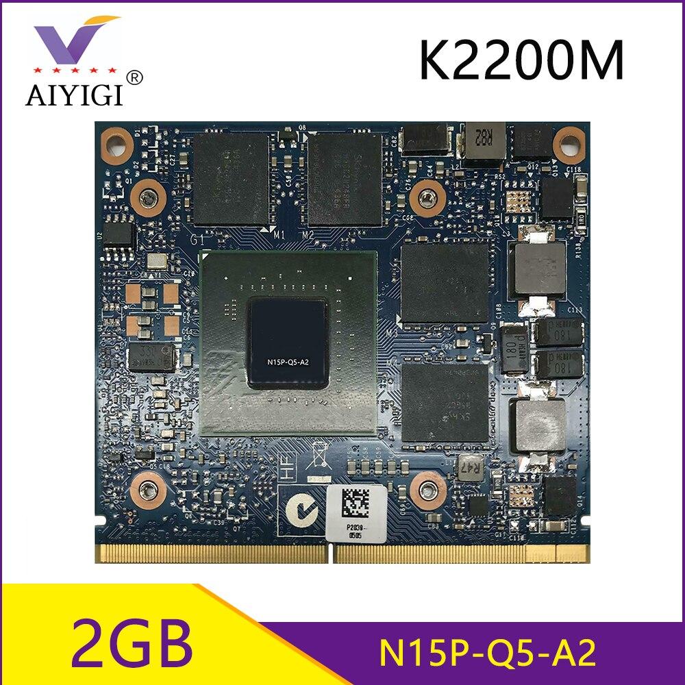 كوادرو K2200M K2200 GDDR5 2GB بطائق جرافيك الفيديو مع X-قوس N15P-Q5-A2 لديل M6700 M6800 HP ZBook15 G1 G2 8570W 8770W