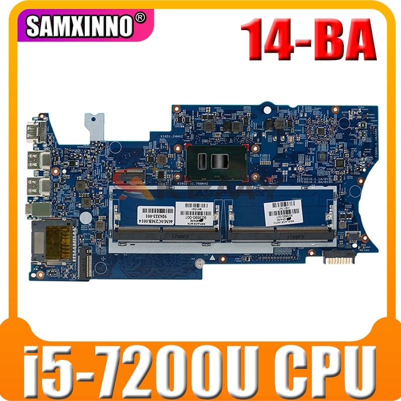 ل HP بافيليون x360 14-BA الكمبيوتر المحمول اللوحة DDR4 مع i5-7200u وحدة المعالجة المركزية 923690-601 923690-001 448.0C203.0011 100% اختبار سريع السفينة