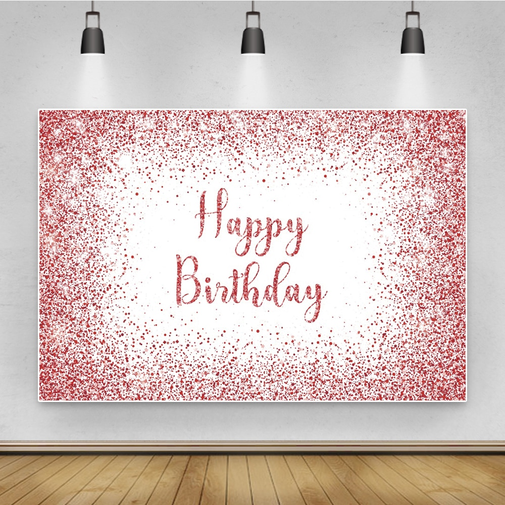 Laeacco Birthday Party Backdrops Golden Photography Background Customized Photo For Wedding Present Baby Shower