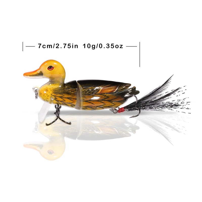 7Cm 10G Topwater Floating Lures Duck Fishing Baits With Hooks Jointed Hard Bait Bass Fishing Lure Wobblers 3D Swimbaits enlarge