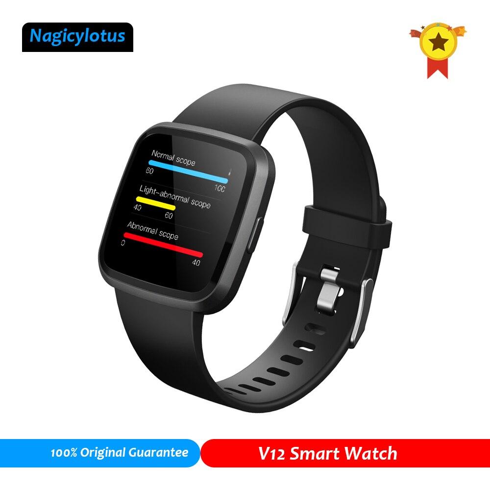 Oxigênio no sangue spo2 relógio inteligente monitor de freqüência cardíaca hrv sono rastreador saúde relógio de fitness atividade rastreador smartwatch v12 pk f10