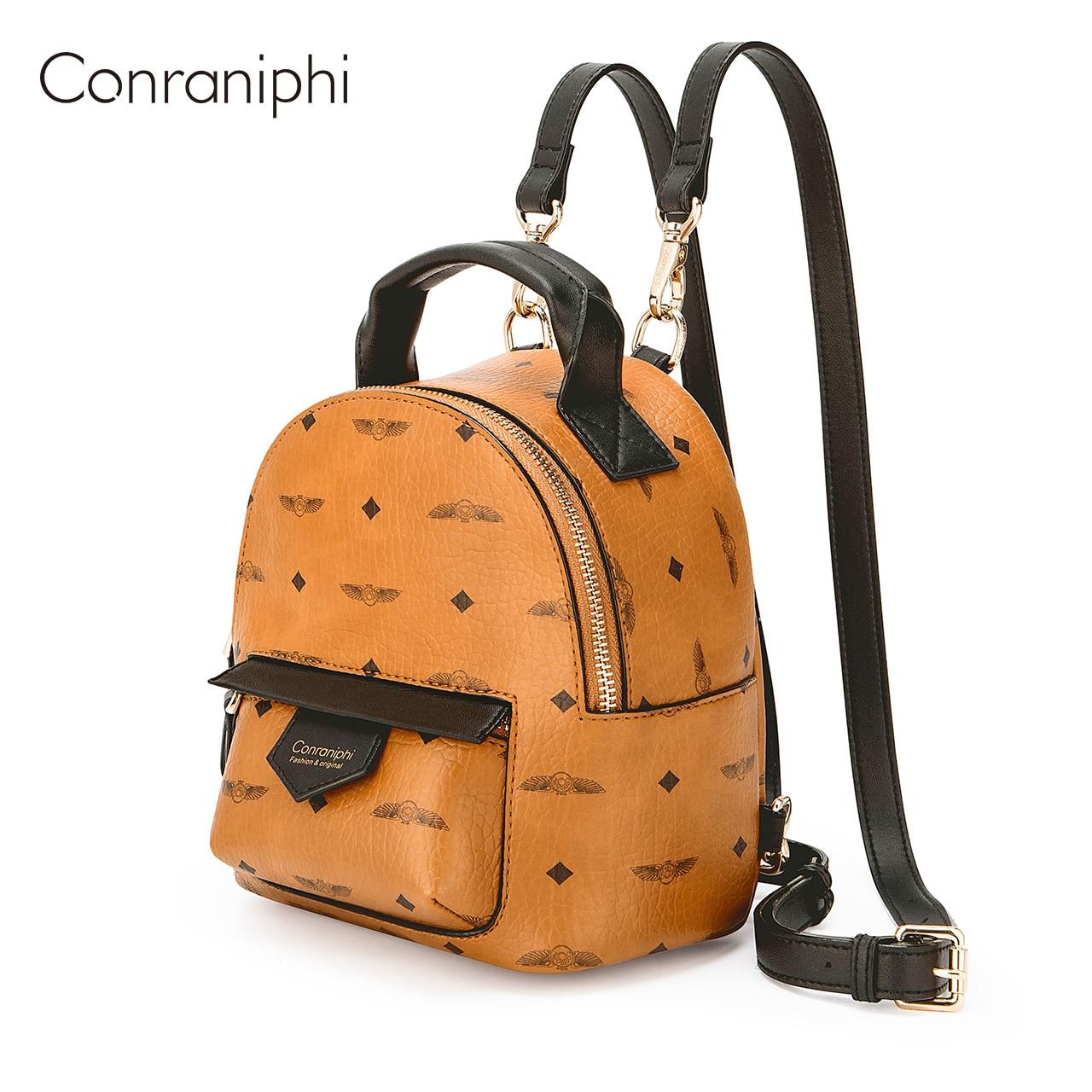 المرأة حقيبة ظهر صغيرة فاخرة بولي Leather حقيبة جلدية لطيف العلامة التجارية على ظهره حقائب مدرسية صغيرة لفتاة Mochila
