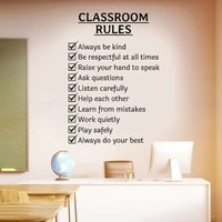 classroom rules words study room school wall sticker vinyl home decor reading room education teacher decals removable mural s135