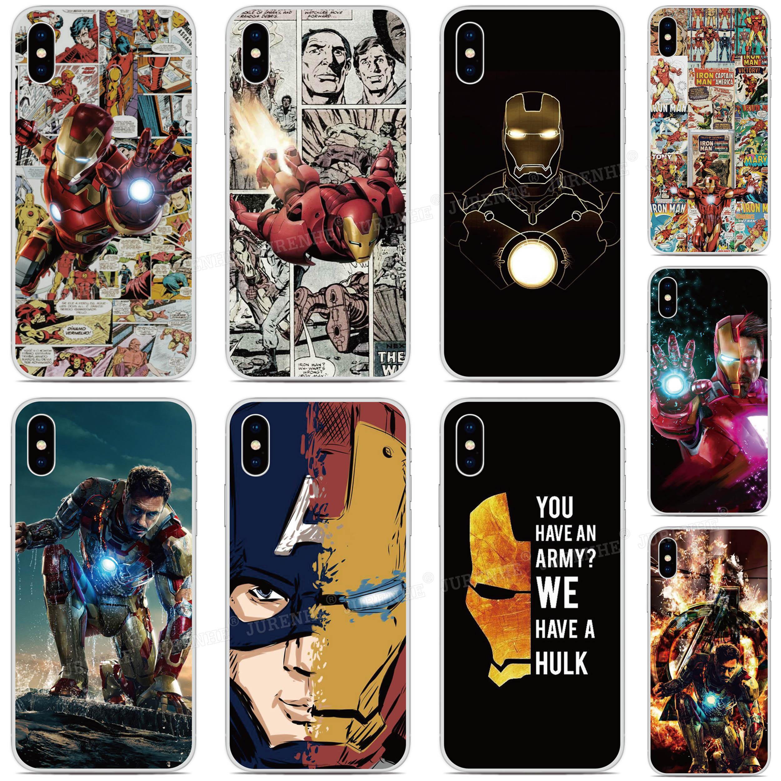 Iron Man Hero TPU Phone Case For Sony Xperia XZ5 5 XZ3 XZ2 XZ4 Compact ACE XA3 XA1 Plus XA2 Ultra L4 L3 L2 20 8 10 1 II Cover