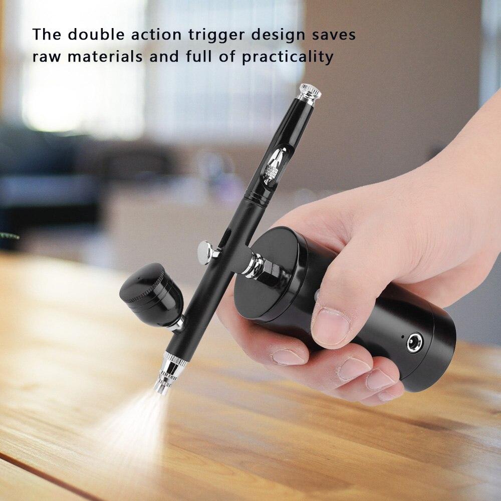 0.3mm mini ação airbrush kit handheld pistola caneta compressor de ar escova pintura arte para arte artesanato modelo pintura pulverização hobby