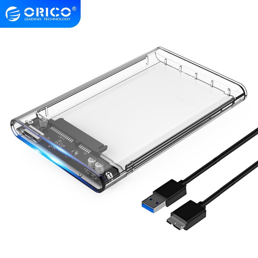 ORICO 2139U3 Hard Drive Enclosure 2.5 pollici Trasparente USB3.0 Hard Drive Enclosure Supporto Protocollo UASP per 7-9.5 millimetri HDD