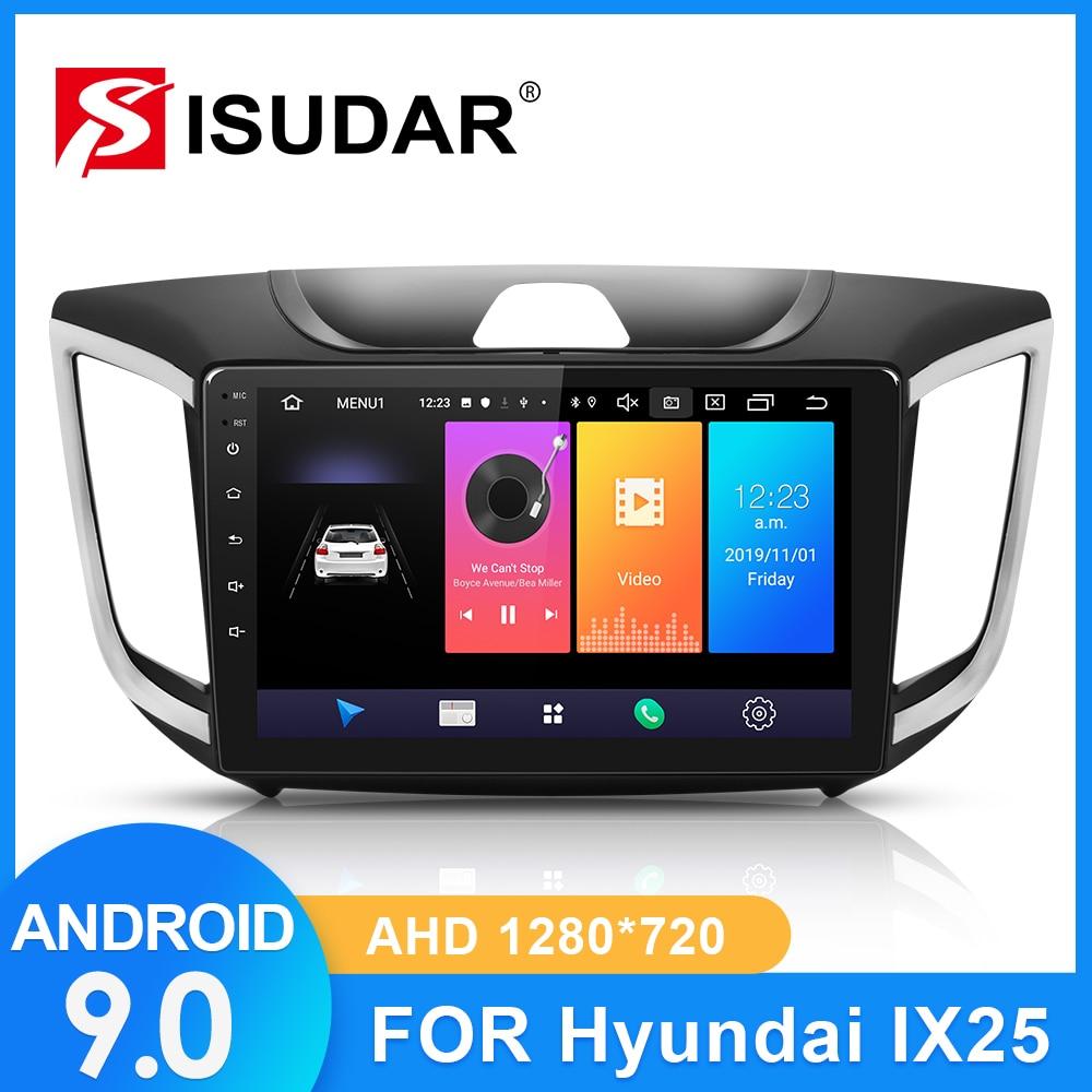 ISUDAR Radio del coche para Hyundai/Creta/IX25 2015-2018 2 din Android 9 Autoradio Multimedia GPS DVR AHD Cámara RAM 2GB ROM 32GB USB